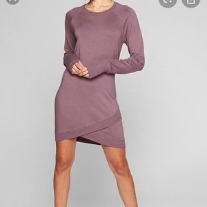 Cream Athleta Sweatshirt Dress